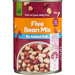 Countdown Bean 5 Mix No Added Salt 420g