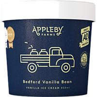 Appleby Farms Ice Cream Vanilla 850ml