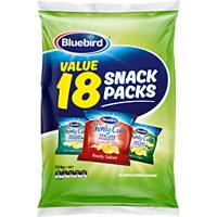 Bluebird Multipack Thin Cut Chips Mix 18 Pack