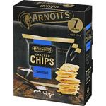 Arnotts Cracker Chips Sea Salt Multipack 126g