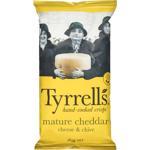 Tyrrells Chips Cheddar & Chives 165g bag