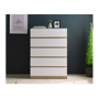 Kim 800 Five Drawers - Maple and White SFD-0004892