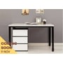 Tori 1200 Desk with Drawer - Black and White EFB-0006486