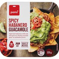Pams Spicy Habanero Guacamole 225g