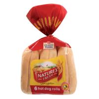 Nature's Fresh Hot Dog Rolls 6ea