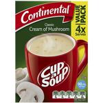 Continental Classic Cream Of Mushroom Cup a Soup 4pk