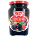 Craig's Three Berry Fruit Jam 375g