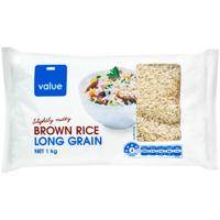 Value Long Grain Brown Rice 1kg
