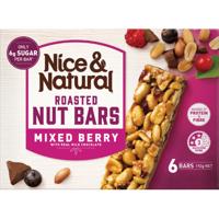 Nice & Natural Mixed Berry Milk Chocolate Roasted Nut Bars 6pk