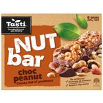 Tasti Nut Bar Choc Peanut Bars 6pk
