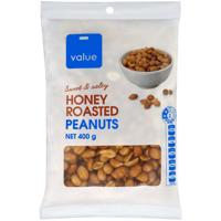 Value Honey Roasted Peanuts 400g