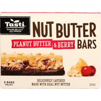 Tasti Peanut Butter & Berry Nut Butter Bars 175g