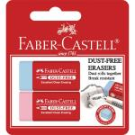 Faber-Castell Eraser Dust Free 2 Pack Mixed Assortment
