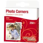 3L Photography Scrapbook Adhesives Paper Corners 250 Pack Clear