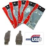 8ware USB 2.0 Cable, USB Type A male to USB Type B male, 3m, Transparent Metal Sheath