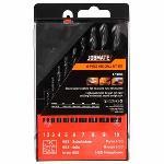 Jobmate Drill Bit Set HSS 10 Piece Black J506-1510