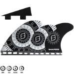 SHAPERS CORELITE PIVOT 6 FIN WHITE BLACK - FUTURES - M FUTURES MOUNT MEDIUM 6 FIN
