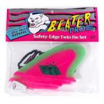 CATCH SURF BEATER PRO SAFTEY EDGE TWIN FIN HOT PINK LIME TWIN