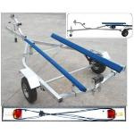 Flat Bed Large Dinghy/Inflatable Boat Trailer w/Lights - Assembled