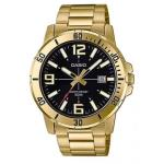 Casio Mens Stainless Steel Gold Watch MTPVD01G-1B