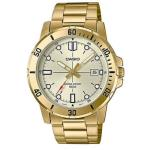 Casio Mens Stainless Steel Gold Watch MTP-VD01G-9E