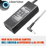HP 90W 19.5V 4.62A Power Adapter ---Blue Small Plug with Pin (4.5x3.00mm) NBPOEM19363