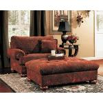 Burlington Ottoman IN Sienna Fabric BURLINGTONOT