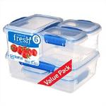 Sistema Fresh Container 6 Pack Blue