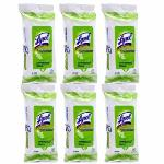 Lysol Germ Protection Hand & Body Wipes 10 Pulls Set of 6