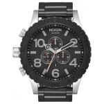 Nixon The 51-20 Chrono Watch - Black/Silver