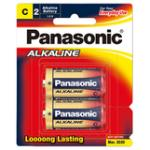 Panasonic Alkaline Size C Batteries - 2 Pack
