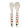 Pear Salad Bamboo Cutlery Set