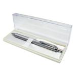 Pentel Bl407 Energel Gel Pen Retractable Aluminium Silver Barrel 0.7mm B lack
