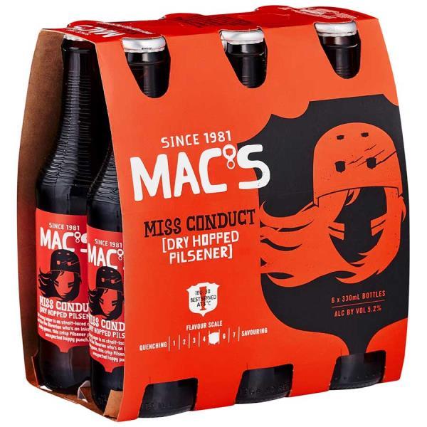 Mac's Dry Hopped Pilsner Miss Conduct 6pk