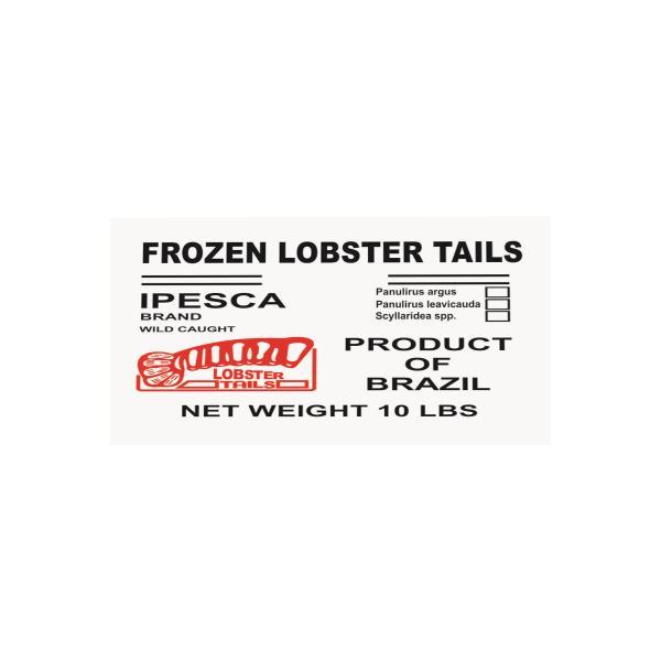 Seafood Raw Brazilian Lobster Tails Frozen 4.54kg