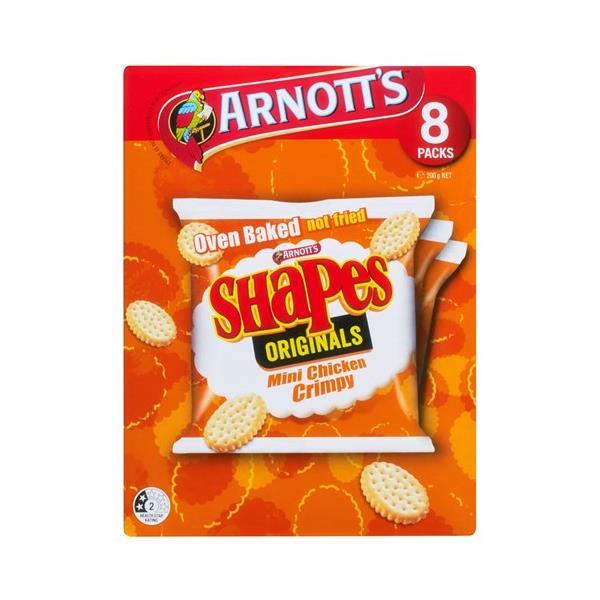 Arnott's Shapes Crackers Mini Chicken Crimpy 200g (8pk)