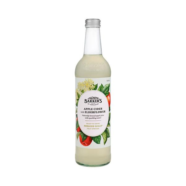 Barker's Fruit Spritzer Apple Cider & Elderflower 500ml