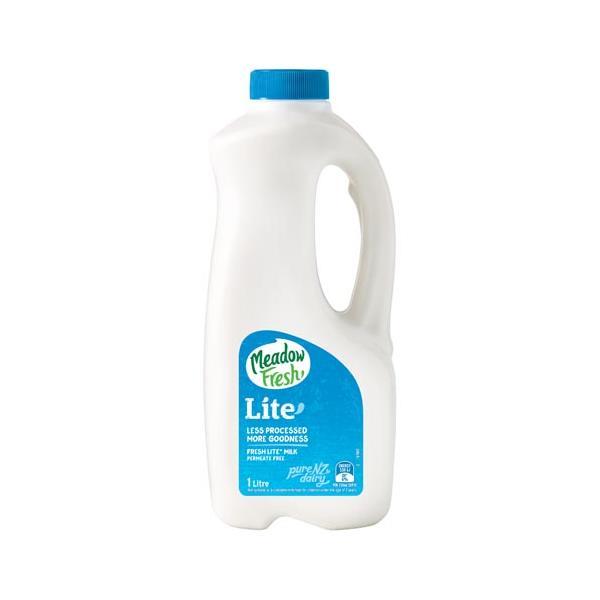 Meadow Fresh Milk Lite plastic bottle 1l