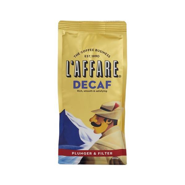 L'affare Caffe Plunger & Filter Grind Decaf 200g