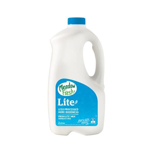 Meadow Fresh Milk Lite Balance Fresh Homogenised btl 2l