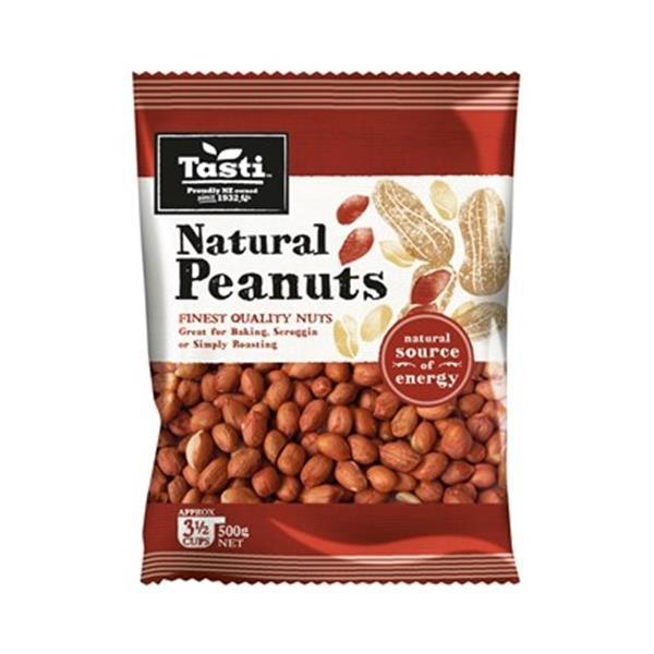 Tasti Peanuts Raw pkt 500g