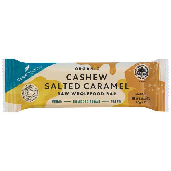 Ceres Organics Raw Wholefood Snack Bar Salted Caramel 50g