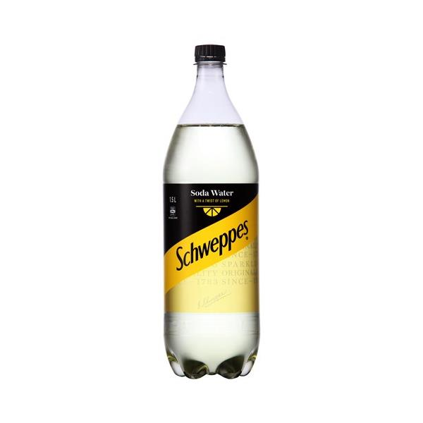 Schweppes Drink Mixers Soda With A Twist Of Lemon 1.5l