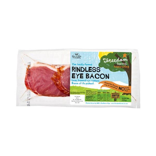 Freedom Farms Eye Bacon Smoked Rindless 250g
