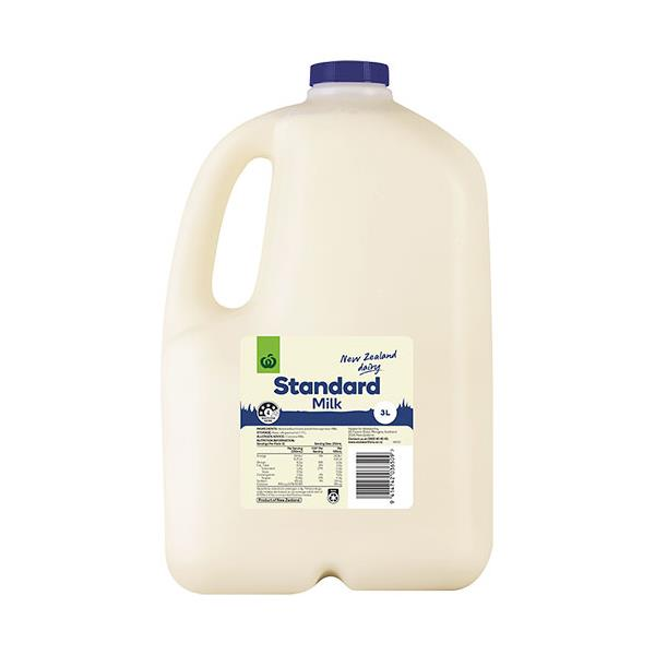 Countdown Milk Standard plastic bottle 3l