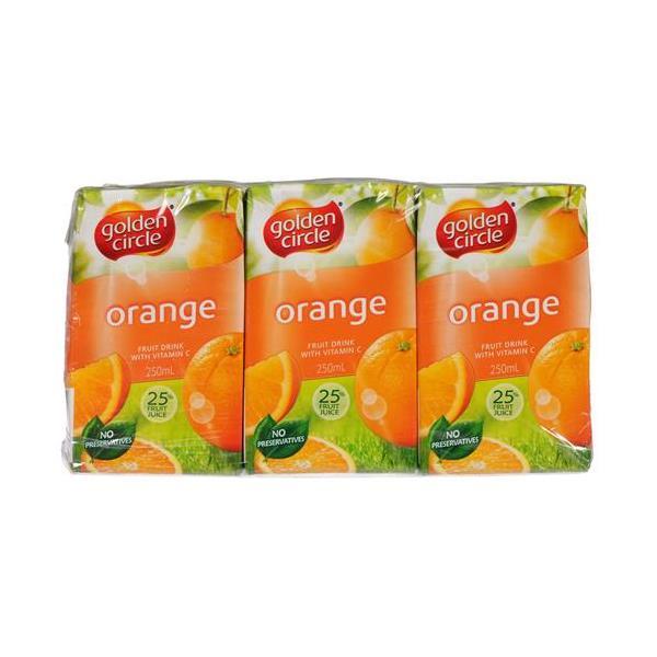 Golden Circle Fruit Drink Orange 1500ml (250ml x 6pk)