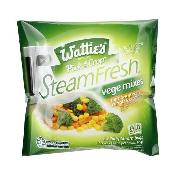 Wattie's Steamfresh Mixed Vegetables Corn, Carrot & Broccoli 320g