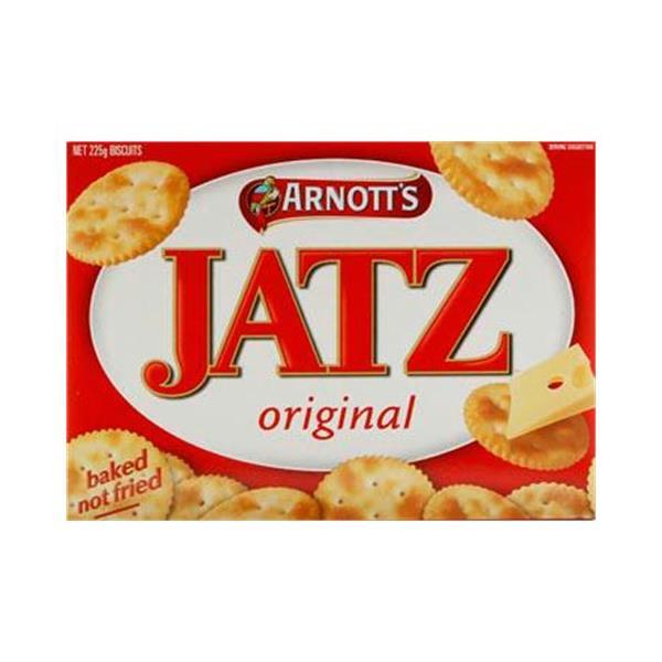 Arnott's Arnotts Jatz Crackers Original box 225g