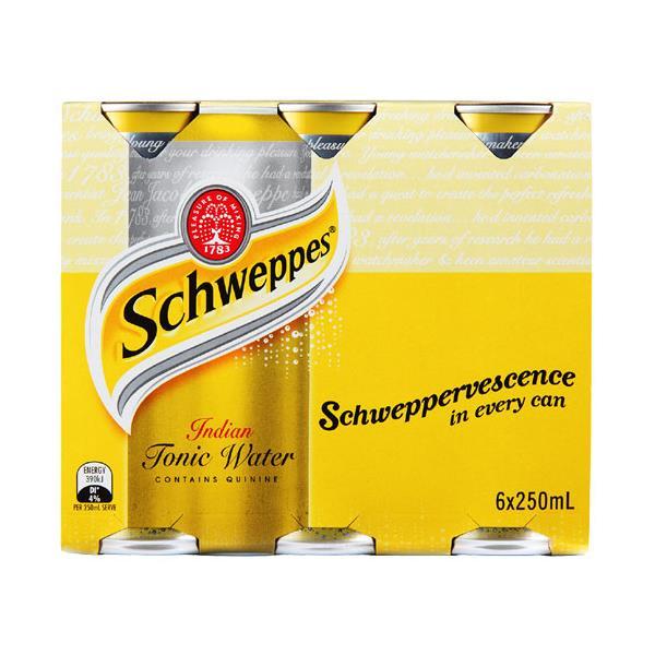 Schweppes Drink Mixers Indian Tonic Water 1500ml (250ml x 6pk)