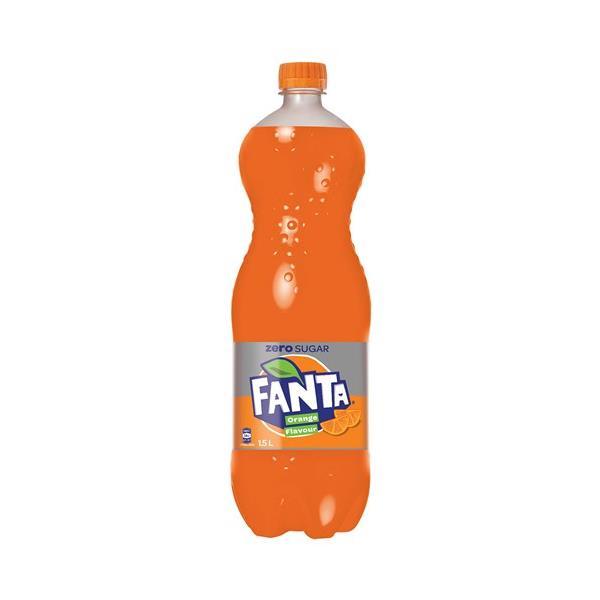 Fanta Zero Soft Drink Orange 1.5l